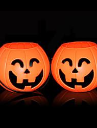 Halloween phares citrouille orange en plastique