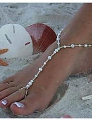 Women's All Handmade Beads Pearl Beads Anklet