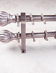 Aluminum Alloy Spray Rose Gold Arhat Rome Rod Curtain Double Rod 05103-05