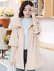 Women's Fashion Winter Flare Sleeve Loose Long Cape Coat Outerwear