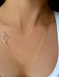 double simple collier de femmes