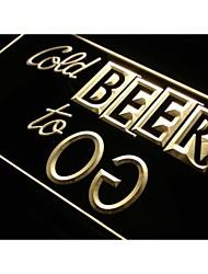 s230 bière froid pour aller bar pub club de signe de néon