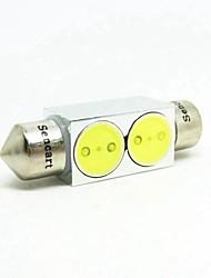 Festone Auto Camion & rimorchi Bianco 2W LED integrato COB 6000-6500 Luce di lettura Luce targa Riflettore