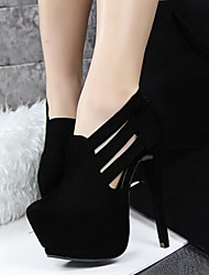 Beauty Girl Women's Fashion Wedding High Heel Platform Shoes (Black)
