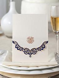 """Personalizado Dobrado no Topo Convites de casamento Cartões de convite Tema de Fadas Papel de Cartão 7 1/5""""×5"""" (18.4*12.8cm)"""