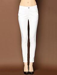 женские случайные равнина эластичность брюки