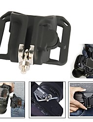 "New 1/4"" Camera Waist Holster Quick Hunter Shoot Belt Button Fast Load Loading - Black"