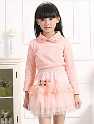 Girl's Fashion Sweet Pure Cotton Long Sleeve Shirt