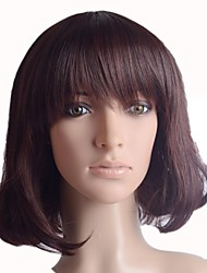 Capless Short light  Brown Straight High Quality Synthetic Japanese 100% Imported Heat-resistant Fiber  Wigs