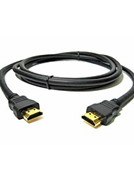 Plateado 0.5m 1080p 3d oro cable HDMI v1.3 de alta velocidad para para LED HDTV inteligente, apple tv, dvd blu-ray