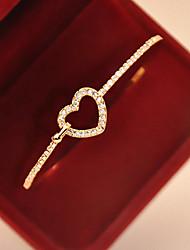 d&diamante x-2 de las mujeres cortó la pulsera del corazón