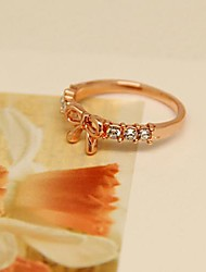 2014 Fashion  Gold  Plated  Bowknot  Diamond  Ring   for women in Jewelry  Accessories