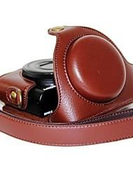 dengpin® macchina fotografica del cuoio del modello della copertura del sacchetto caso litchi con tracolla per Sony DCS-RX100 ii m2 m3 RX100 RX100 iii
