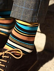 Men's Cotton Socks Fashionable Stripe   Men's Socks