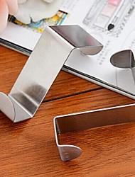 2 pçs gancho multifuncional de aço inoxidável sem costura tipo porta traseira