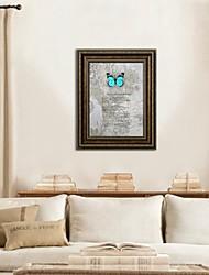 arte de la pared del arte 3d enmarcado, mariposas 3d animales sobre papel de arte barato satinado con marco ps marrón