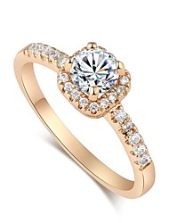 design de mode exquise bague de zircon en or 18 carats des femmes