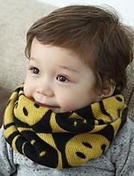 Kid's Fashion Joker Lovely Warm Smiling Face Scarf