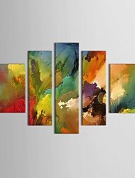 IARTS®Hand Painted Oil Painting Abstract Colorful Home Decoration with Stretched Frame Set of 5