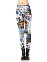 Women's Fashion Graffiti Thickening Leggings