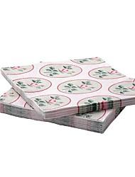 Rose Pattern Paper Napkin Virgin Pulp 30-piece  33x33cm