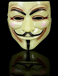 v pour vendetta gars anonyme fawkes masque pour Halloween Party (jaune) (1 pc)