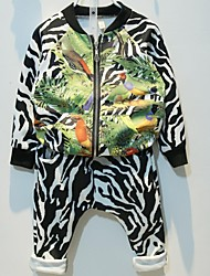 Boy's Cotton Clothing Set,Winter / Spring / Fall Print