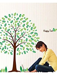 ZOOYOO®  new removable beautiful green tree happy life wall sticker home decor wall stickers for kids room