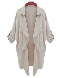 Solid Color Casula Coat