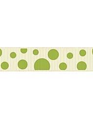 Pontos coloridos costela poliéster 5/8 de polegada a impressão fita-10 tinta quintal cada saco