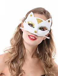 Mask Cosplay Festival/Holiday Halloween Costumes White / Black Solid Mask Halloween Female PVC