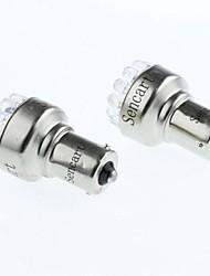 1156 1W 90lm 19led 6500k llights freio luzes brancas de marcha atrás (DC12V / 2pcs)
