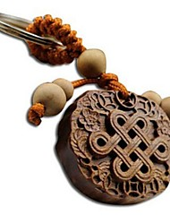 Duo Ji Mi ®Chinese Knot Rosewood Carving Keychain
