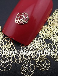 50pcs Rose Form Scheibe Metallnagelkunstdekoration