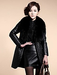 Women's Plus Cotton Long Fur Overcoat
