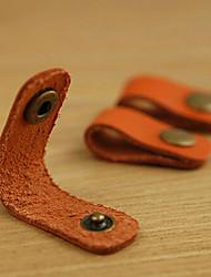 lan enchedor de bobina de couro para o cabo do fone de ouvido