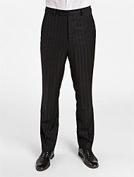 Black 100% Wool Tailored Fit Pant