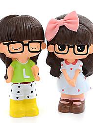 estilo xiaoxi resina muñeca linda alcancías juguetes
