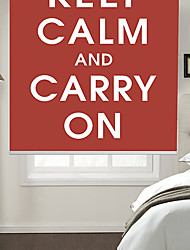 Philosophic Classic Words Keep Calm And Carry On With Red Background Roller Shade