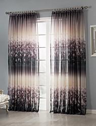 Dois Painéis Tratamento janela Rústico Quarto Poliéster Material Sheer Curtains Shades Decoração para casa For Janela