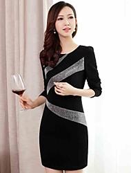 Frauen koreanische Hip-Paket dünnes Kleid