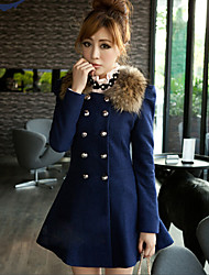 NAMI Fashion Double Breated Long Sleeve Solid Color Coat_11