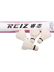 nieuwe Reiz 12st / veel hoge kwaliteit 12st opleiding witte blauwgroen veer badminton shuttles groothandel m9