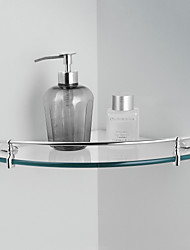 "Badezimmer Regal Chrom Wandmontage 264 x 264 x 45mm (10.39 x 10.39 x 1.77"") Messing Modern"
