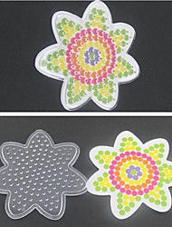 1PCS Template Clear Pegboard Flower for 5mm Hama Beads Perler Beads Fuse Beads