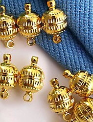 DIY Spherical-Shaped Alloy Necklace Jewelry Magnetic Connection Clasp Gold (10Pcs)
