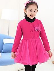 casacos de inverno lace ocasional trincheira da menina (mais cores)