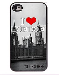 Personalized Case I Love London Pattern  Metal Case for iPhone 4/4S