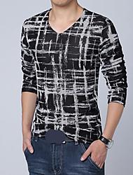 manga longa ocasional t shirt_41 homens Blacknight