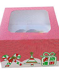 Cajas y Papel de Pastelito ( Rojo , Papel de tarjeta ) - Tema Fantástico
